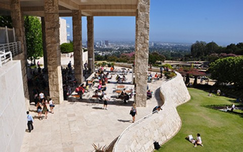 Getty Museum exterior overlooking city