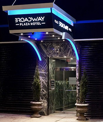 Welcome to the Broadway Plaza Hotel