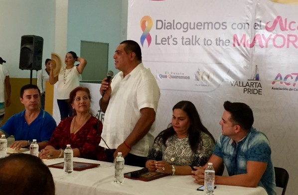 PV Mayor Arturo Davalos Meets with LGBT Community Members
