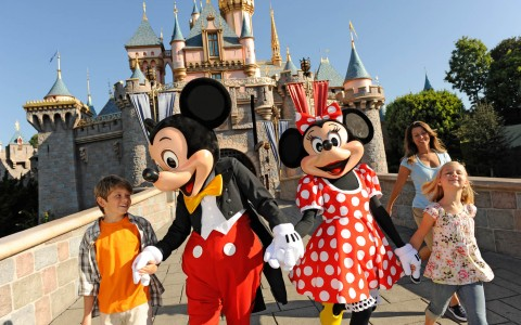 Mickey and Minnie with Kids
