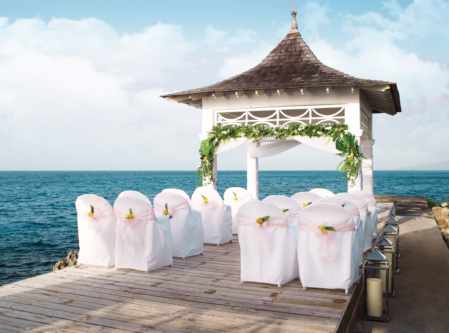 Ceremony with an ocean view
