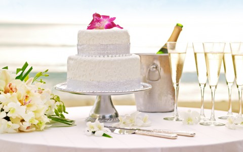 Gorgeous wedding cake from our gourmet bakers