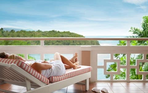 Balconies with ocean views, Couples Sans Souci