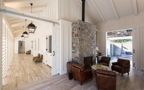 Farmhouse spa waiting area