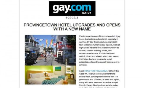 Provincetown Hotel Upgrades and Opens with a New Name