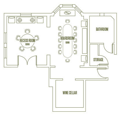 Layout map of event spaces