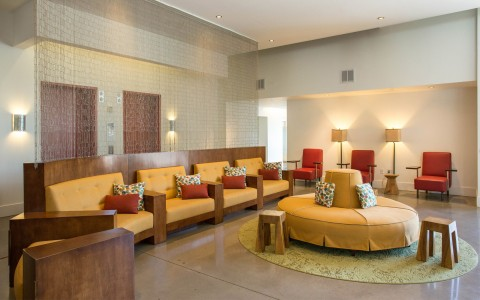 Hotel Indigo Lobby Seating Area