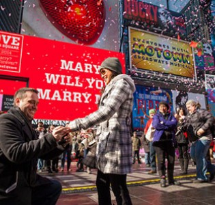 Romance With a Time Square Twist