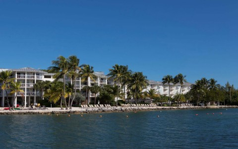 view of pelican cove from the water