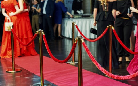 roped off red carpet