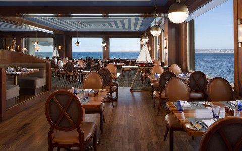 dinning area with ocean view