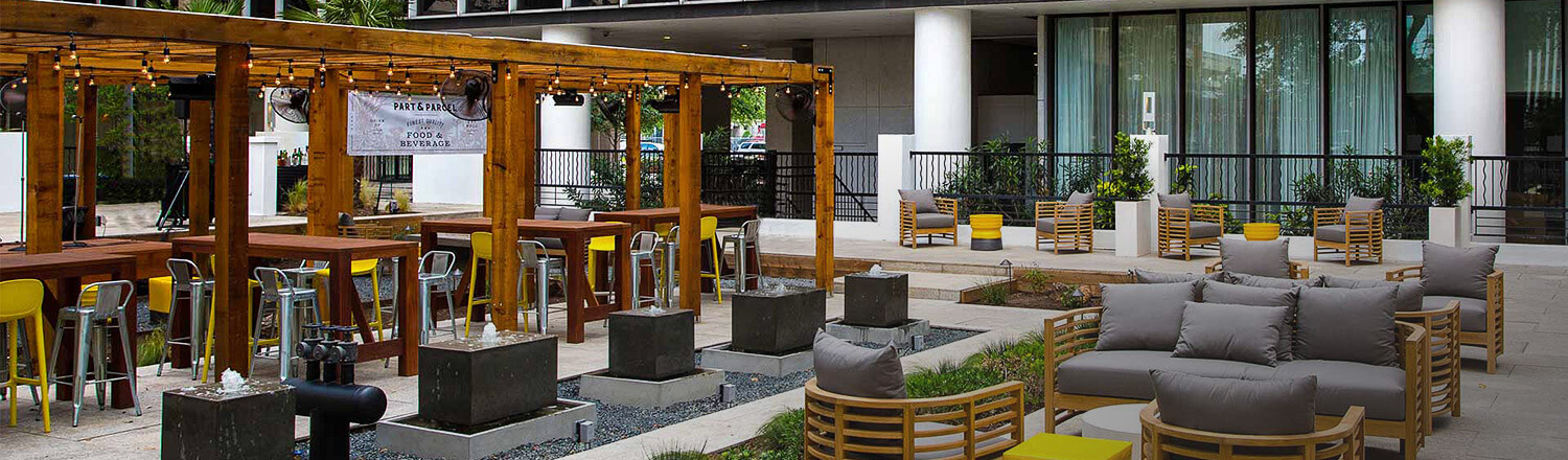 Part & Parcel outdoor seating area