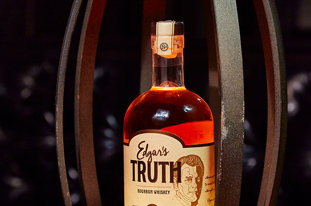 Edgar Truth Serum bottle and vault