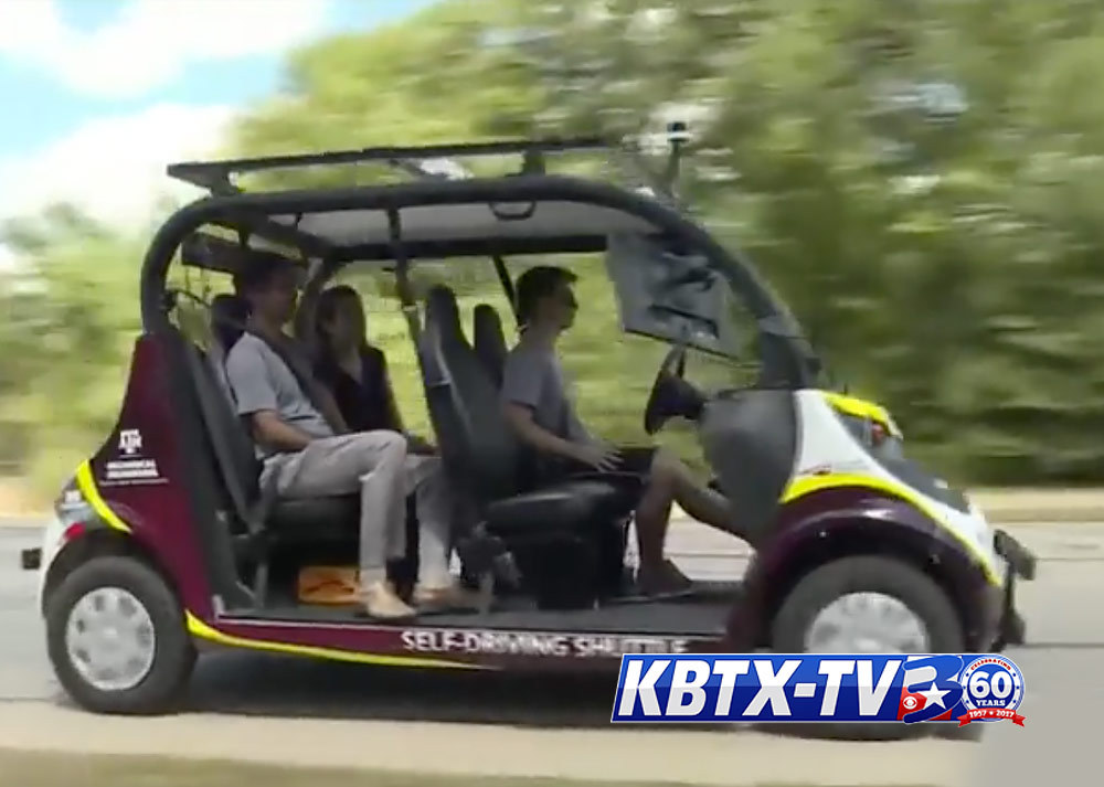 Focus at Four: Take a ride with no driver in A&M's autonomous Vehicle