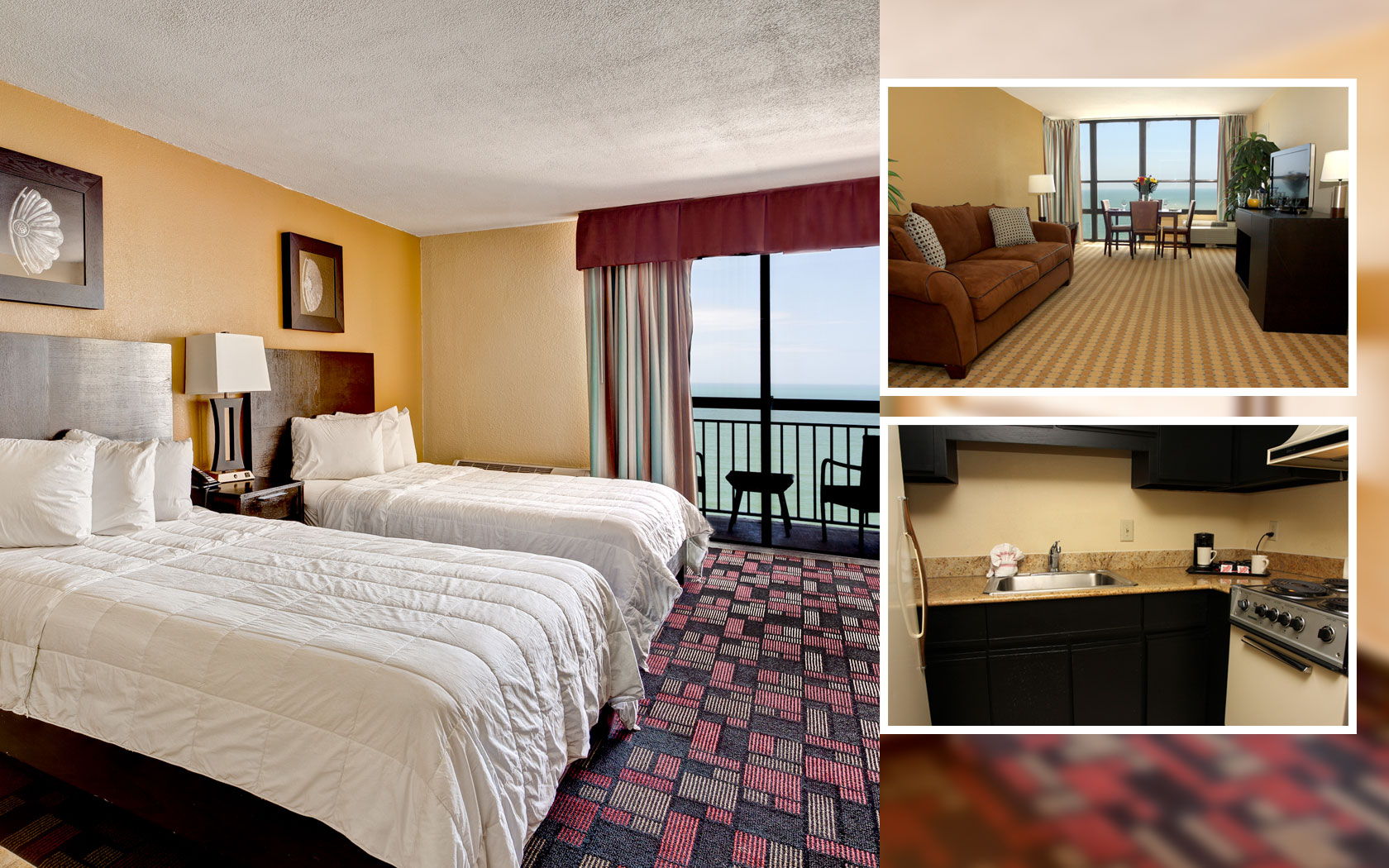 Ocean Front SUITE WITH BALCONY 2 DOUBLE BEDS