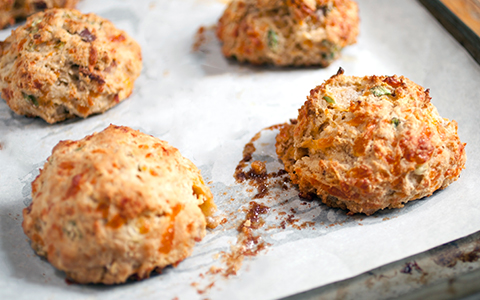 The Marc Restaurant Recipe: Caramelized Onion and Cheddar Biscuits With Sweet Onion Molasses Jam