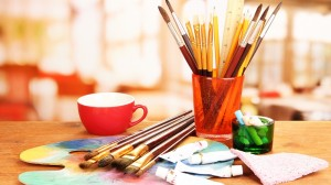 Paint brushes, arts and crafts